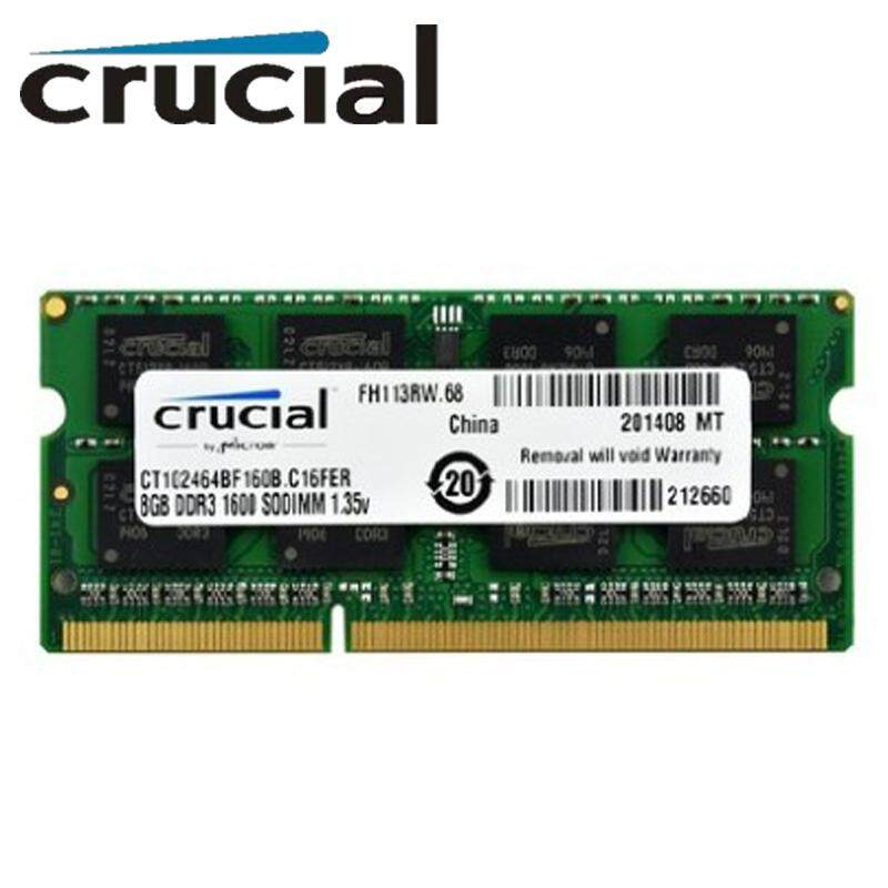 Crucial Rams 8gb Single Ddr3/ddr3l 1600 Mt/s (pc3-12800) Unbuffered Sodimm 204-Pin Memory - Ct102464bf160b By Hongweichuangxing Store.