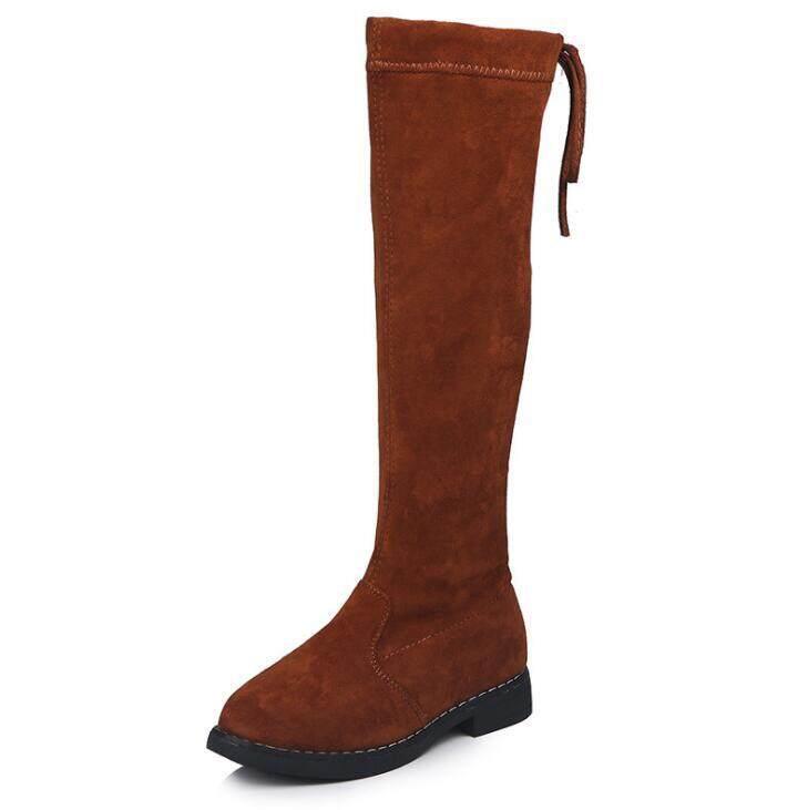 Giá bán Bé Gái Giày Giày Trẻ Em Mới Mùa Đông Da Ấm Thời Trang Bé Gái Giày Cao Con Ống Mềm Plus Ủng Dành Cho Bé Gái size 26-37