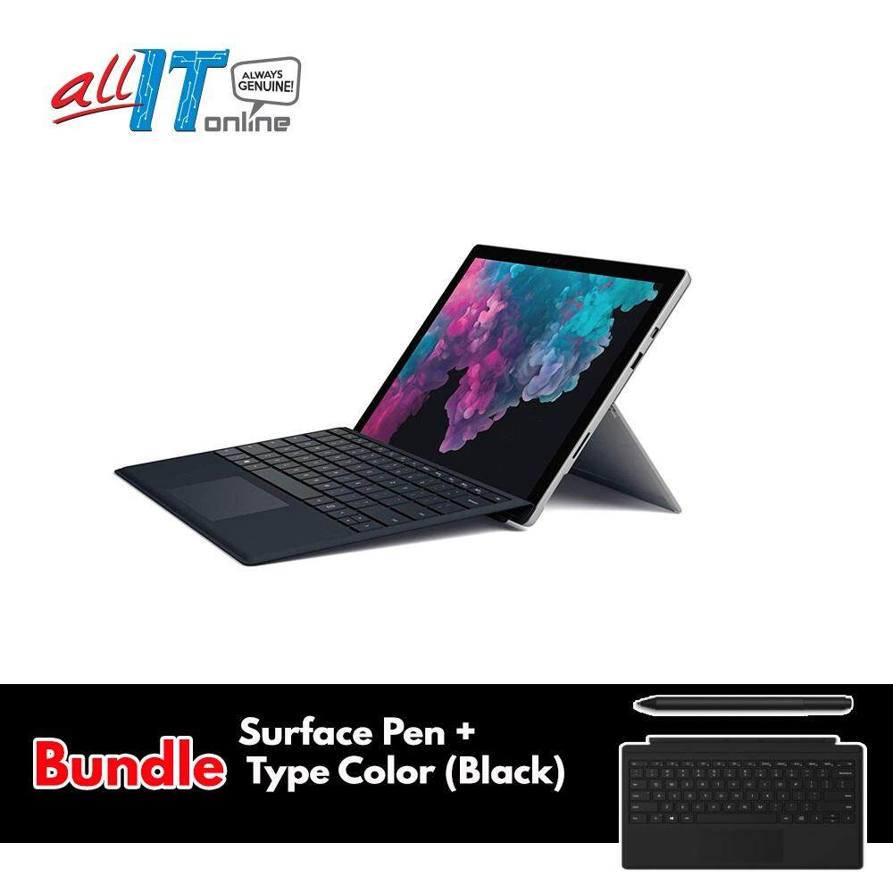 New Microsoft Surface Pro 6 (Intel Core i5, 8GB RAM, 128GB) - Platinum** Bundle Surface Pen Black + Type Cover Black Malaysia