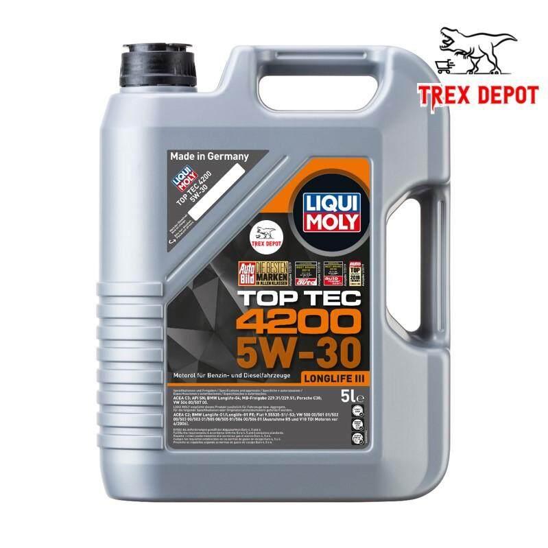LIQUI MOLY Top Tec 4200 Longlife III Hydrocrack Engine Oil 5W-30 (5L)