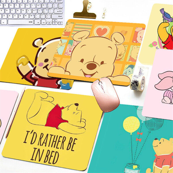 Cartoon Winnie the Pooh Printed Mouse Pad Game Office Home Multimedia Computer Keyboard Non-slip Mouse Pad Malaysia