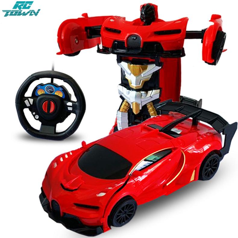 Rctown 1/24 RC xe biến dạng điều khiển từ xa xe điện robot đồ chơi trẻ em Quà tặng cho trẻ em