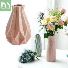 Homenhome Dụng Cụ Trồng Cây Bình Hoa Đơn Giản Đồ Trang Trí Phòng Khách, Bắc Âu, Cắm Hoa Bằng Nhựa Bình Khô