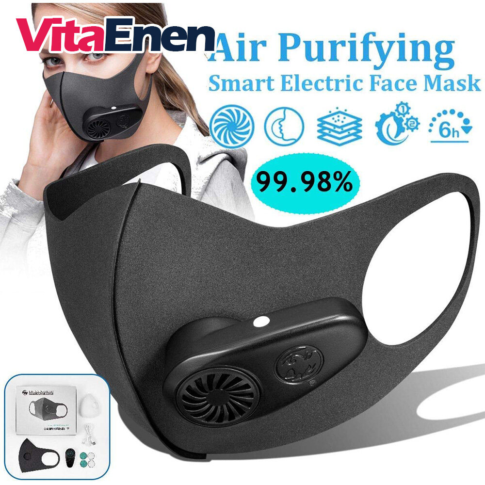 VITAENEN Electric Smart, Smart Electric Face Dust, Air Purifying,Filter bacteria, Dust Particulate Respirator with Breathable Valve, Anti Dust Pollution PM2.5, Fresh Air Supply