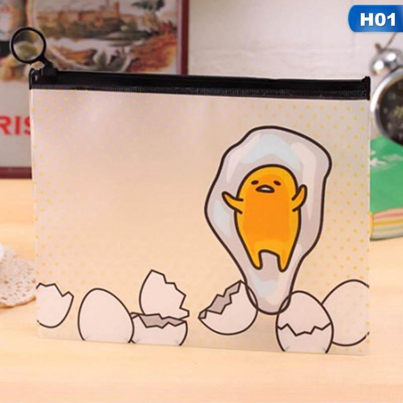 Candy Hot Sale Gudetama A5 Zipper Bag Pvc Waterproof File Bag Data Storage Bag By Mycsndice.