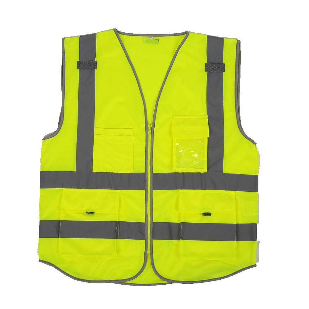 So Young Store Fashion Technology Hot Sale!!!High Visibility Reflective Vest Cycling Reflective Safety Waistcoats XXL