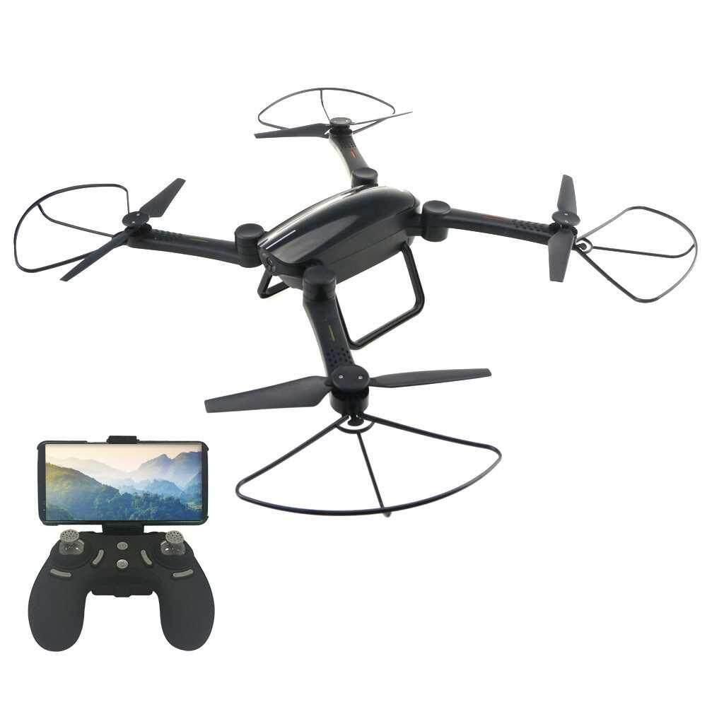 JIE-STAR X9TW Foldable 480P Camera Wifi FPV Drone (Black)