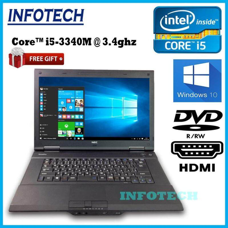 Nec VK27 intel core i5 3340M 3rd gen 8gb or 4gb ram 320gb hdd dvd hdmi usb3.0x4 4gb laptop notebook 15.6 ~ refurbished Malaysia