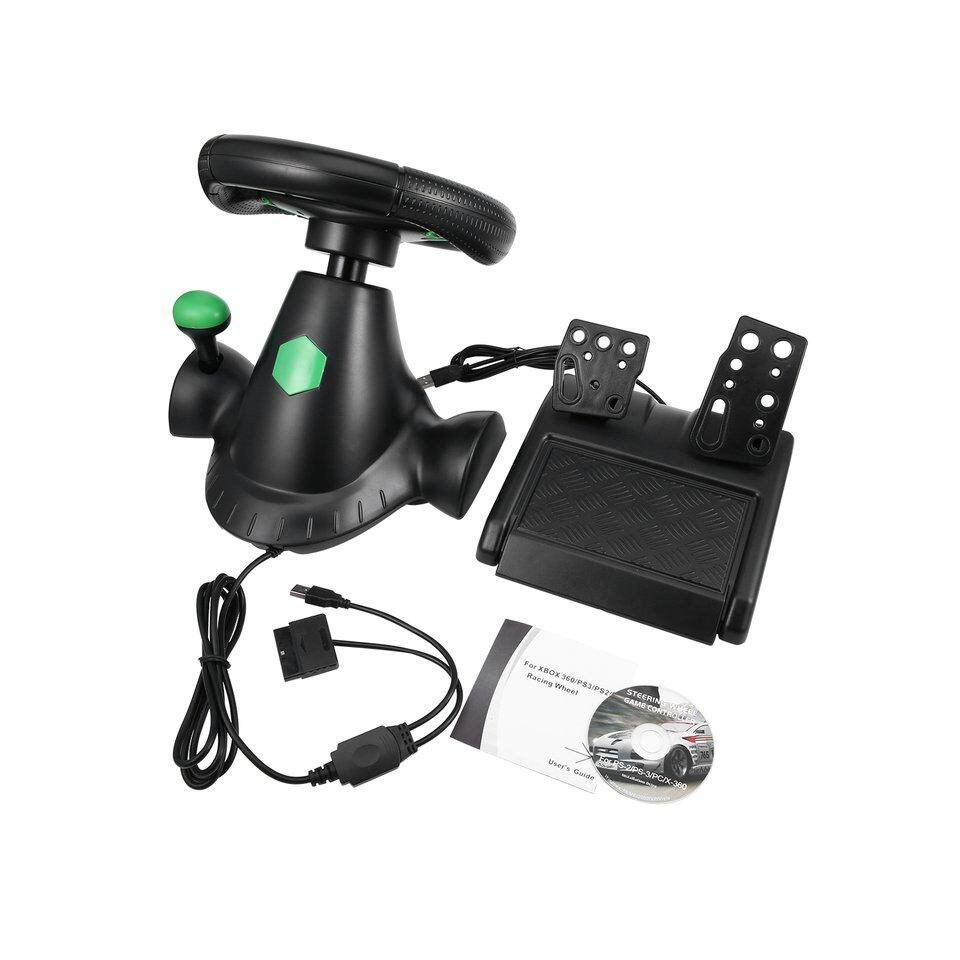 Best Sellers Gaming Vibration Racing Steering Wheel and Pedals for XBOX 360/PS2/PS3