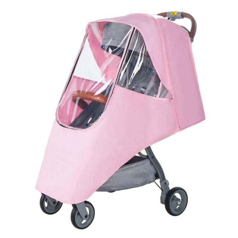 [Wondering]Waterproof Rain Cover Transparent Wind Dust Shield Zipper For Baby Stroller Singapore