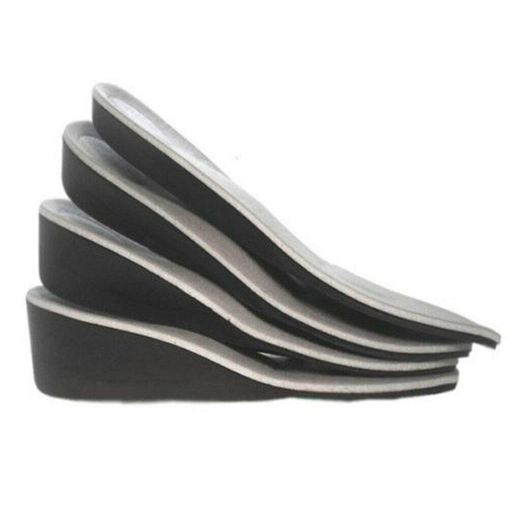 Women Men Invisible Heel Lift Taller Shoe Inserts Height Increase Insoles Pad