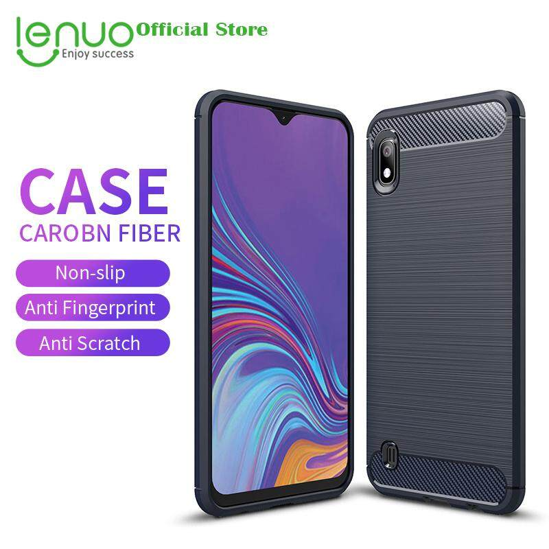 dafe8ed97de6 Lenuo Soft Case for Samsung Galaxy A10 Carbon Fiber Silicone Cases Brushed  Anti-knock Cell