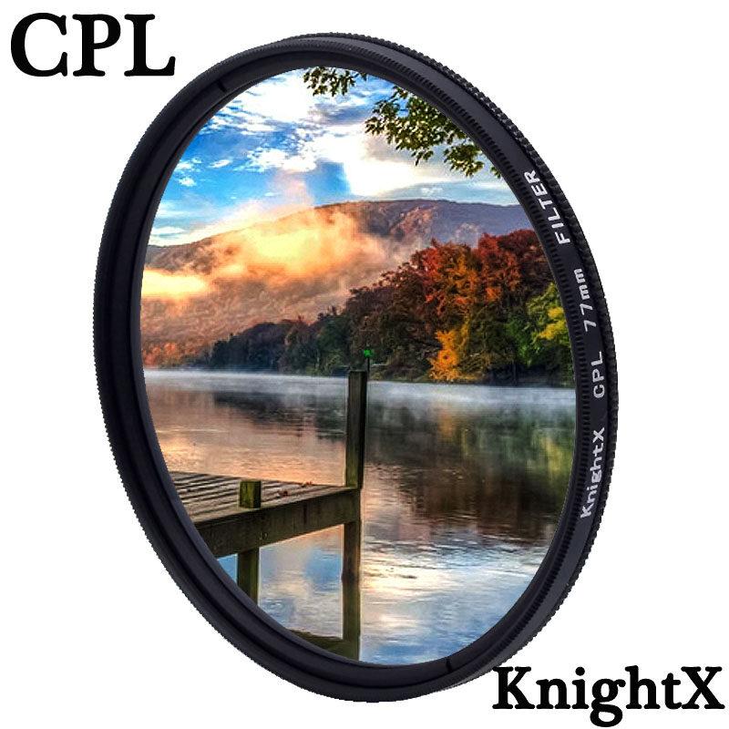 Knightx Cpl P Olarizing กล้องเลนส์กรองโพลาไรสำหรับ Canon Nikon 49 มิลลิเมตร 52 มิลลิเมตร 55 มิลลิเมตร 58 มิลลิเมตร 62 มิลลิเมตร 67 มิลลิเมตร 72 มิลลิเมตร 77 มิลลิเมตร.