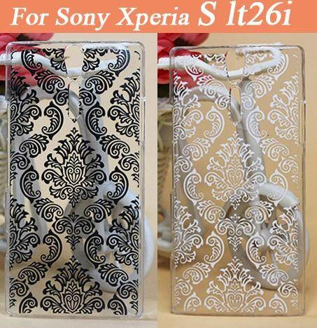 best service f37f9 50399 Fashion Cases Covers For Sony Xperia S LT26i Case Cover Vintage black &  white flowers Hard Plastic Cover For Sony Xperia S LT26i