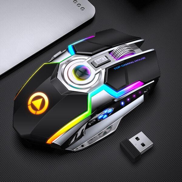 Bảng giá Valazo Redstorm Chuột Chơi Game Không Dây Im Lặng Và Sạc Lại Được Đèn Nền LED Chuột USB Quang Ergonomic 7 Phím Đèn Nền RGB Cho Laptop Máy Tính Phong Vũ