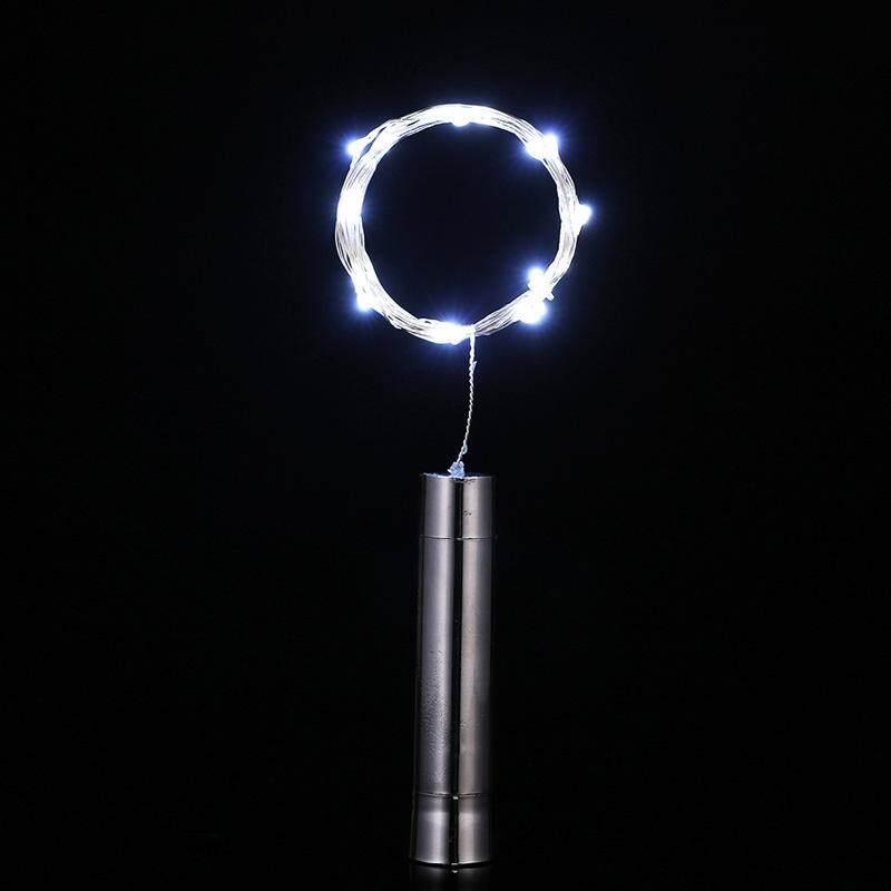 Deyln 1 20LED Mặt Trời Mới nút chai hình đèn dây đồng đêm Cổ Tích đèn tiệc Giáng Sinh trang trí nhiều màu sắc tùy chọn