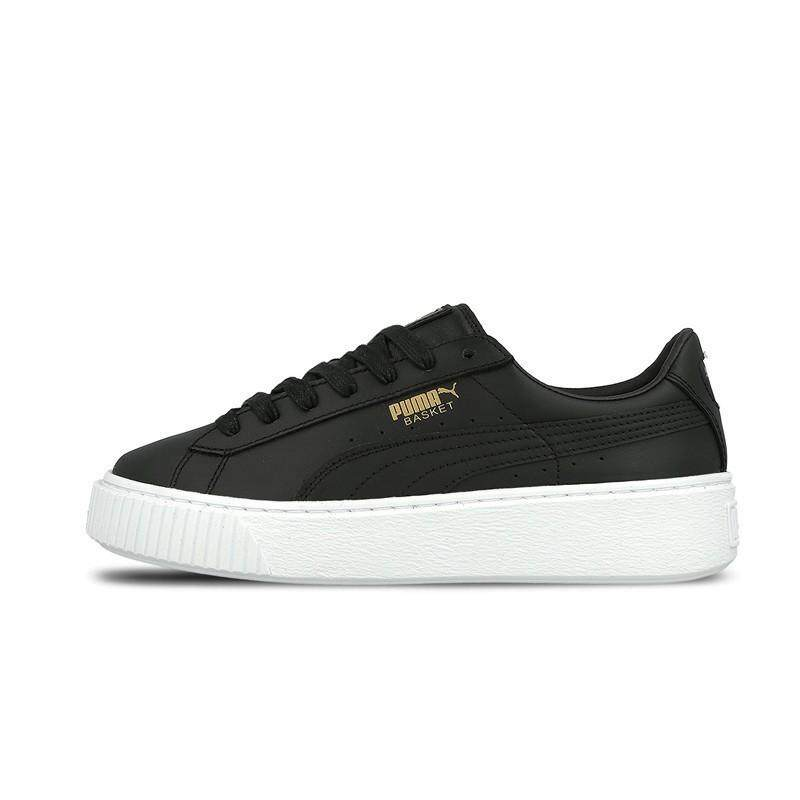 Brand Authentic Pumas Suede Platform Gold women s casual sneakers shoes  364040-02- 87db737af
