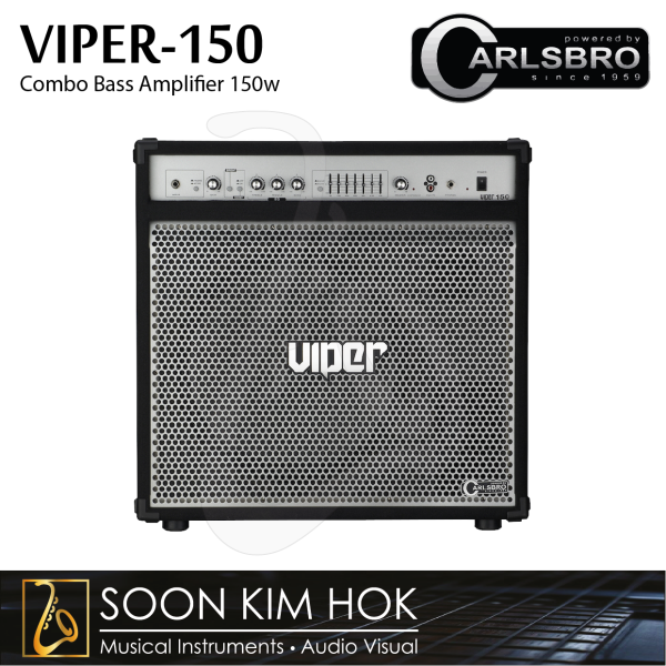 CARLSBRO VIPER-150 7 Band EQ, 1x15 Combo Bass Amplifier 150w With CD/MP3 Input (VIPER150) Malaysia