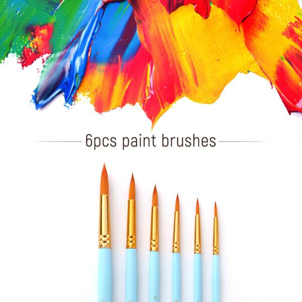 Mua 6 Cái Cọ Vẽ Nghệ Thuật Bút Đặt Đầu Tròn Đầu Nhọn Bút Vẽ Chuyên Nghiệp Tay Cầm Bằng Gỗ Nylon Cho Dầu Acrylic Màu Nước Gouache Mặt Vẽ Tranh Nghệ Thuật Đồ Dùng Cho Nghệ Sĩ Họa Sĩ Học Sinh Mới Bắt Đầu