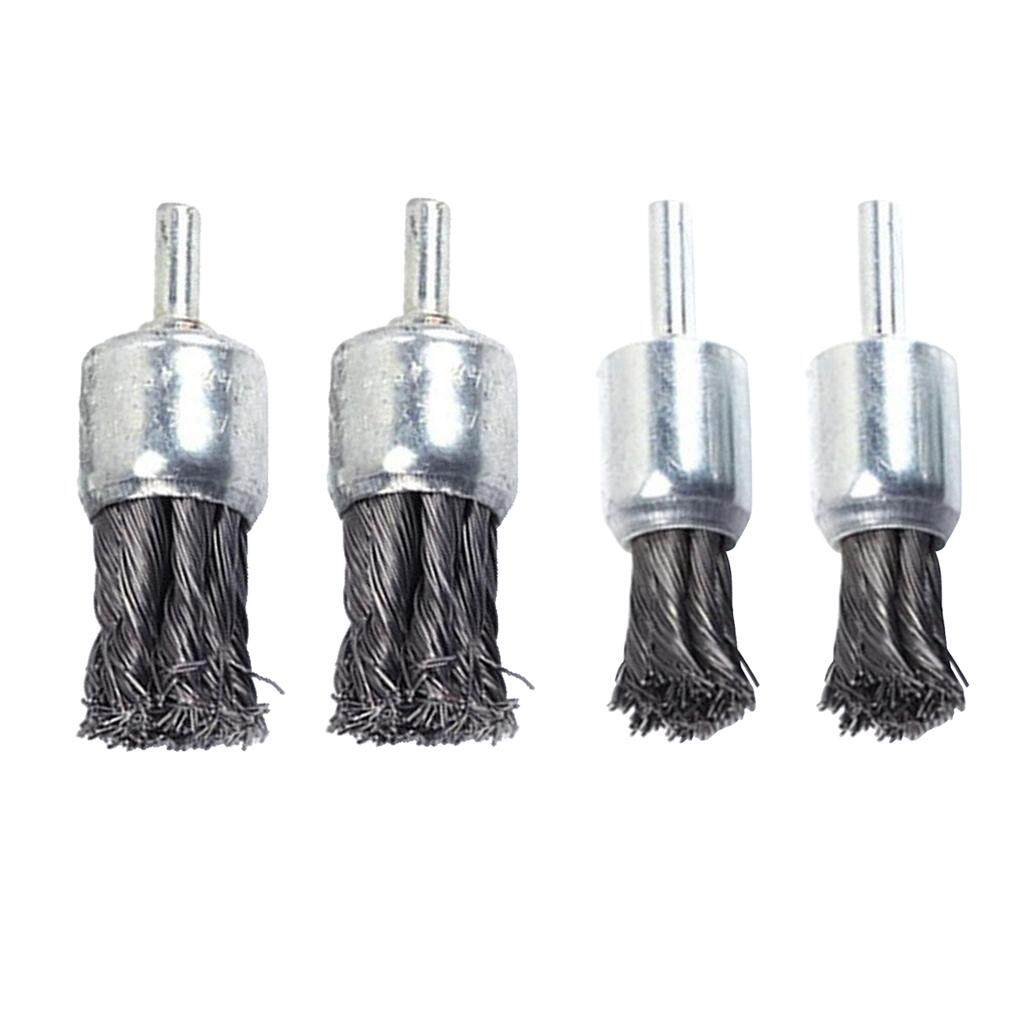 MagiDeal 4pcs Wire Knot End Brush Rust Paint Removal Tools For Die Grinder 20 & 25mm