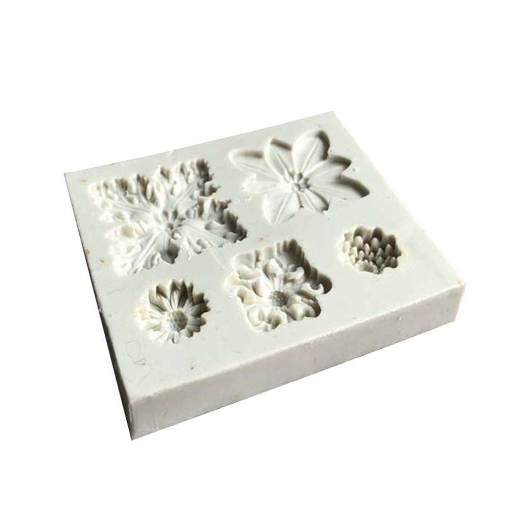 Fang Fang Silicone Mold Different Vintage Flowers Shape Cake Fondant Mould Decorating Tools