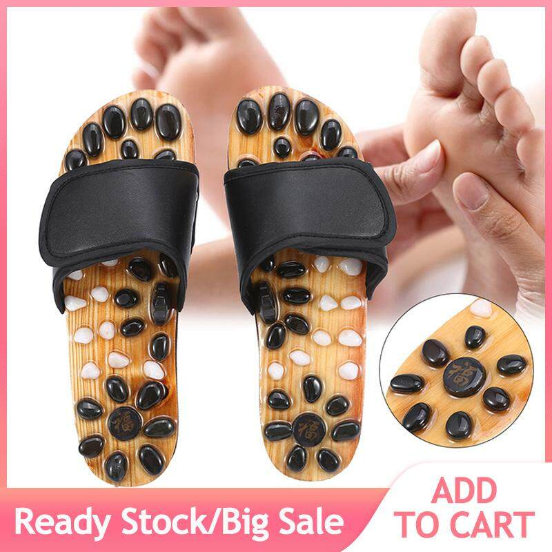 f8e104f483dc Reflexology Naturopathy Foot Massage Slippers Acupuncture Health Care Massage  Shoes (Black 38)