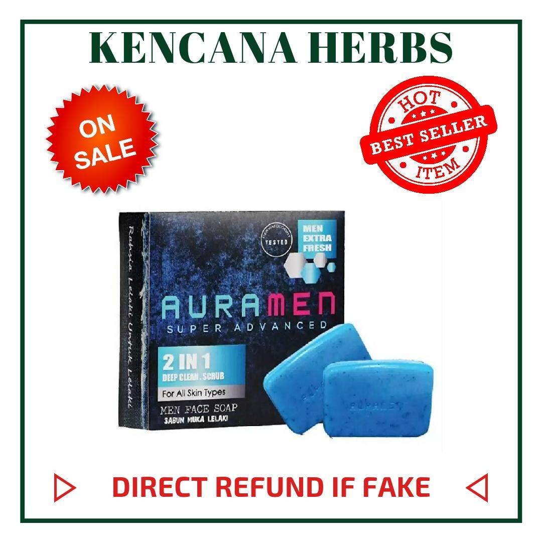 On Sales !!! Auramen Face Soap 2 In 1 By Kencana Herbs.