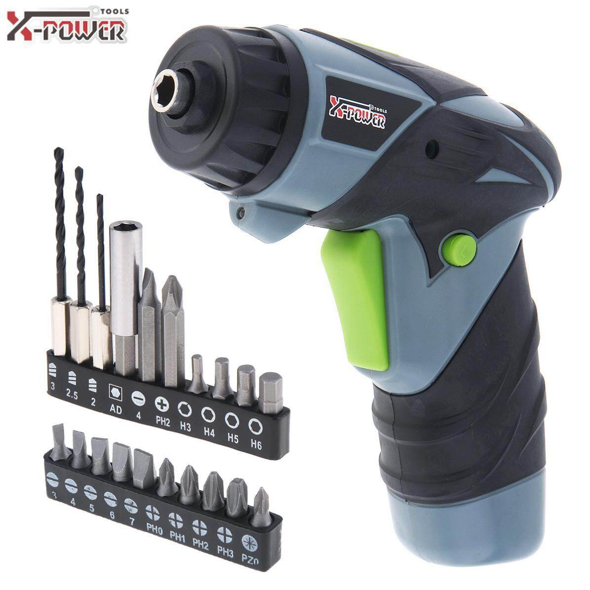 Mini AC 220V Handle Rechargeable Electric Screw Driver 3.6V with LED Lighting and Bidirectional Switch for Household Maintenance