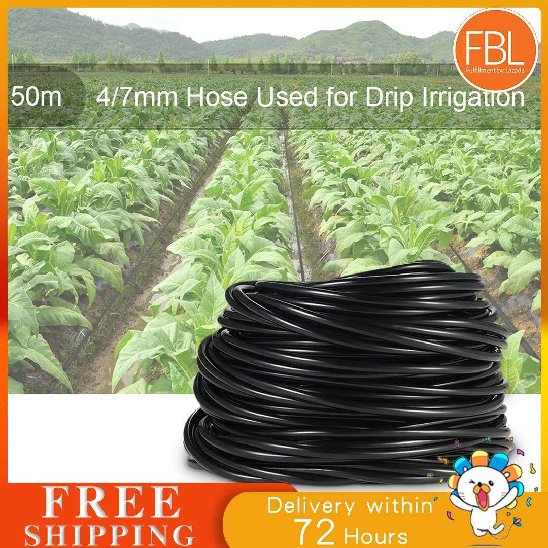 (Free shipping fee) 50m Watering Tubing Hose Pipe 4/7mm Drip Irrigation System for Home Garden Yard Lawn Landscape Patio Plants Flowers Water Supply