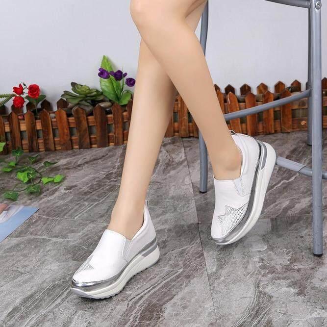 Nữ Tăng Gót Giày Hàn Quốc Mới Modal Nền Tảng Giày Nữ Thường Thoáng Khí Đế Độn giá rẻ