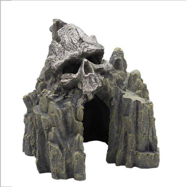 Hộp sọ trang trí hồ cá cảnh quan rockery Dodge House Cave Fish Nest Halloween đồ trang trí sáng tạo đặc biệt
