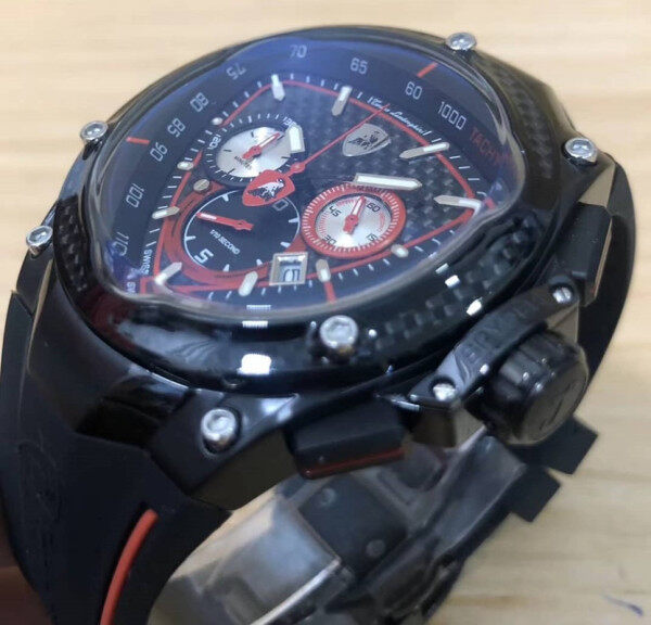 Premium Collection Lambhorgini_ Sapphire Coating Crystal Rubber Straps Quality Chrono RL5040 D Movement Men wrist Fashion watch Fully Stainless Steel Swiss Made Malaysia