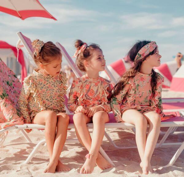 Nơi bán Áo Tắm Rời Cho Bé Mới 2021 Bikini Đồ Bơi Chống Nắng In Hoa Dài Tay Cho Bé Gái Đồ Bơi Nghỉ Hè Cho Trẻ Em
