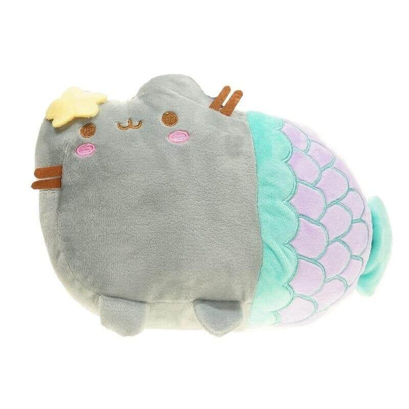 Cute Cat Plush Toy Animal Smile Fat Cat Mini Mermaid Stuffed Plush Doll For Children Birthday Best Gift