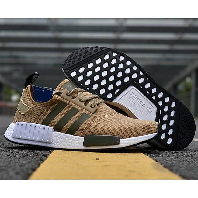 นครศรีธรรมราช Adidas_NMD_breathable_sneakers_brown_khaki_EU36-45
