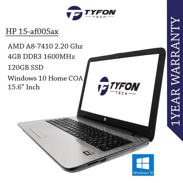 HP 15-af005ax A8-7410 4GB RAM 120GB SSD Laptop (Refurbished) Malaysia