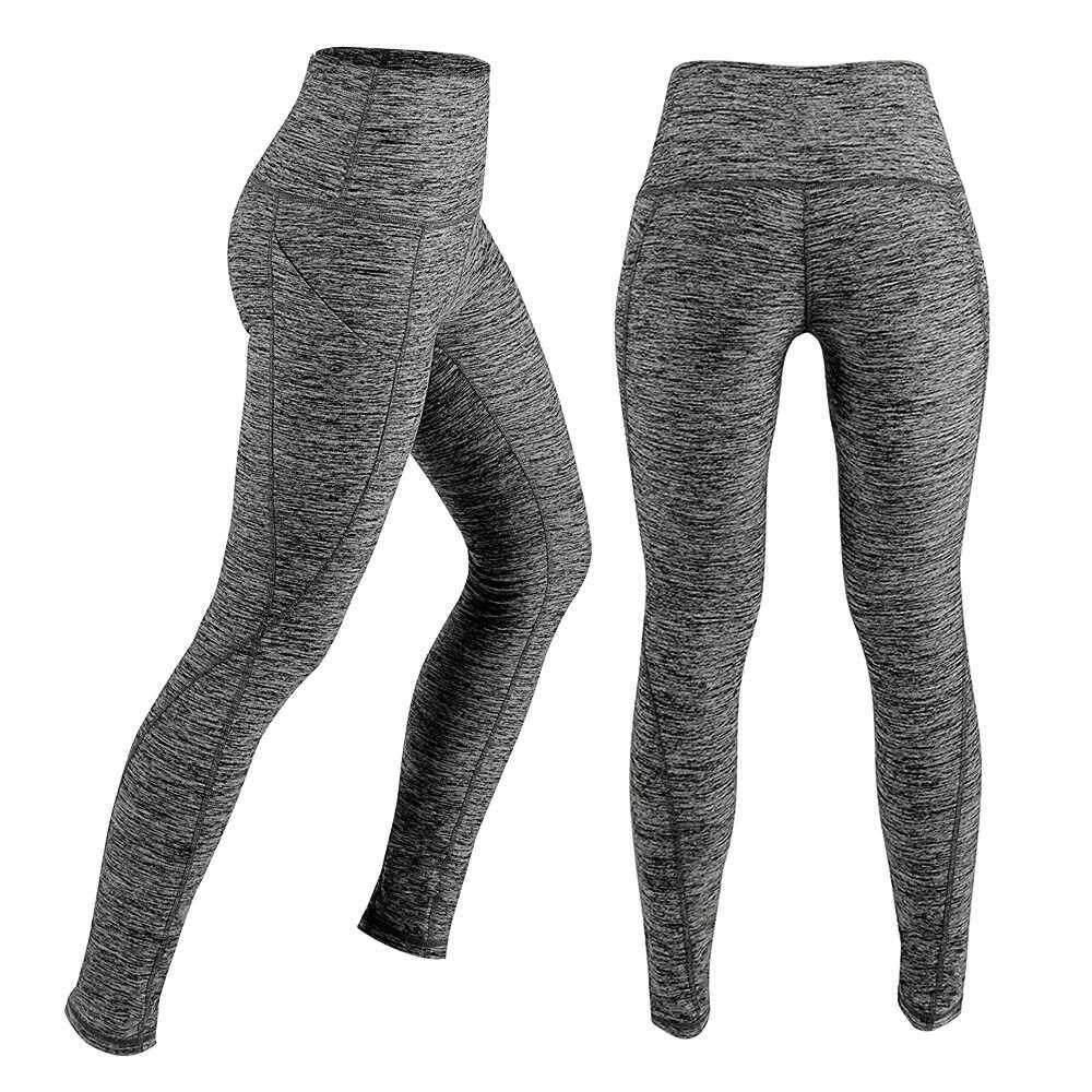 dbd2ffa0dfc90a Women's High Waist Yoga Pants Tummy Control Workout Running 4 Way Stretch  Yoga Leggings Tights with