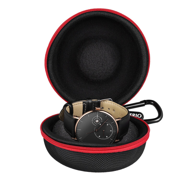 Chaoshihui NICERIO Portable Single Watch Travel Case Watch Box with Zipper And Soft Felted Interior for Holding Wristwatch Smart Watch (Black) Malaysia