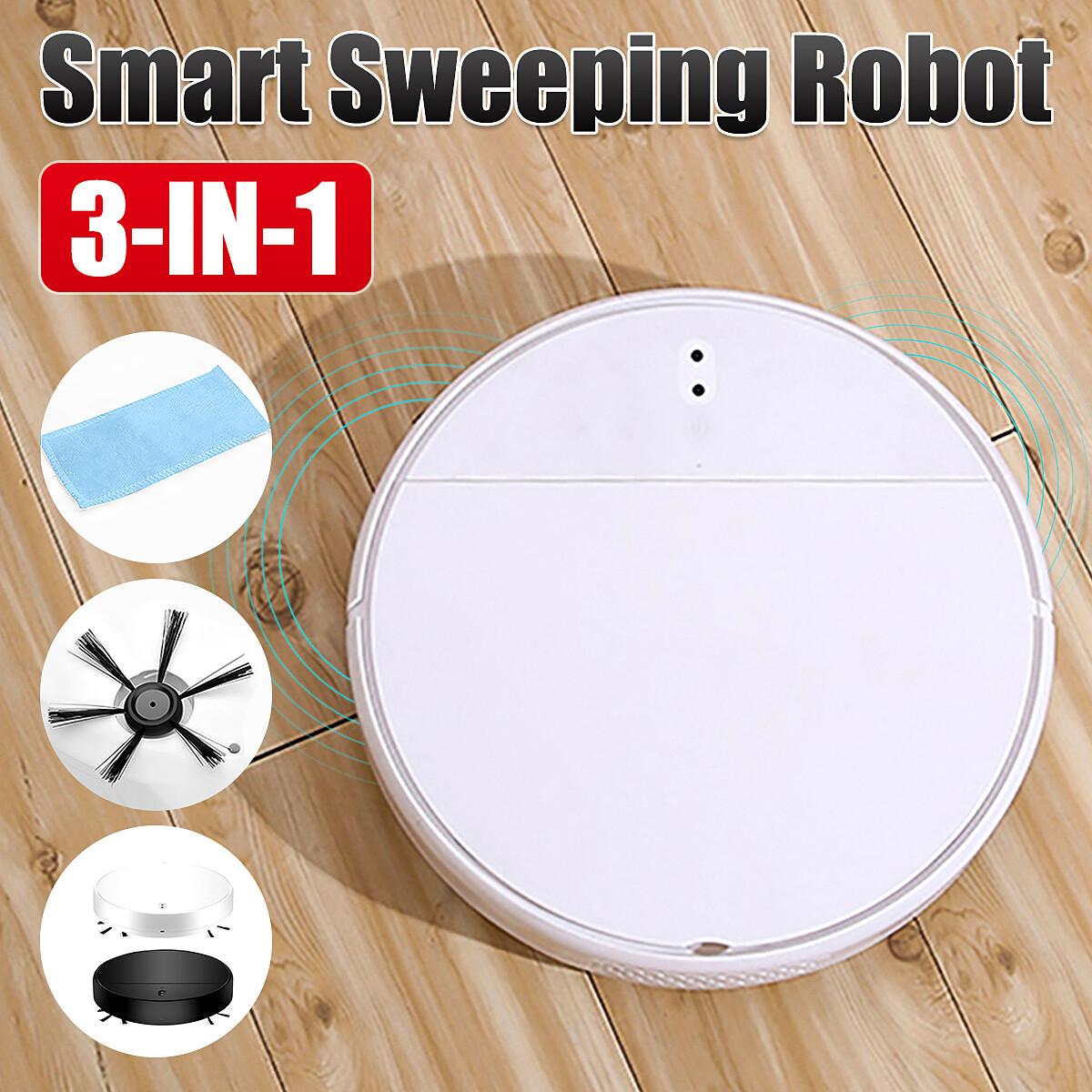 3 IN 1ดูดสมาร์ทเครื่องดูดฝุ่นหุ่นยนต์ทำความสะอาด Self จะเดิน Sweeper