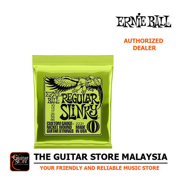Ernie Ball 2221 Nickel Wound Regular Slinky Electric Strings (10-46) Malaysia