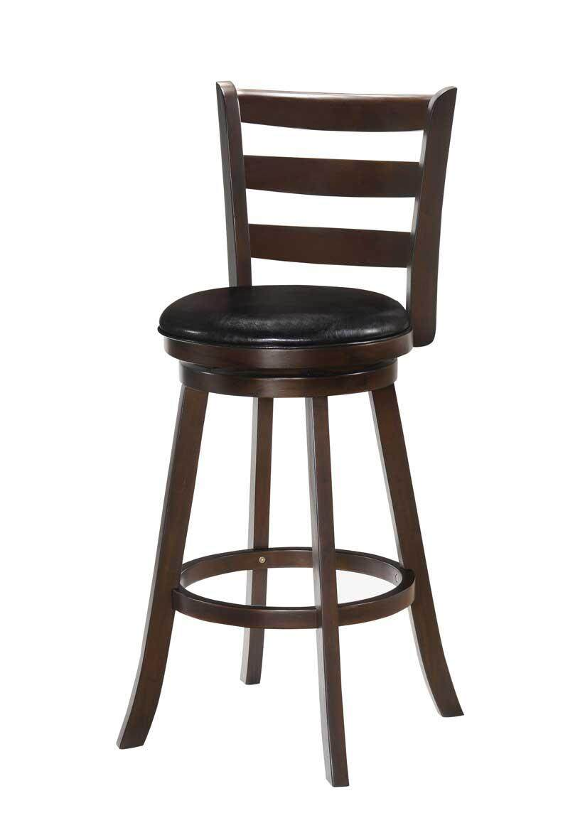 The Cheapest Price Europe Retro Style Height Adjustable Bar Chair With Footrest Wood Backrest Swivel Bar Stool Counter Coffee Pub Chair Barstool 50% OFF Bar Chairs