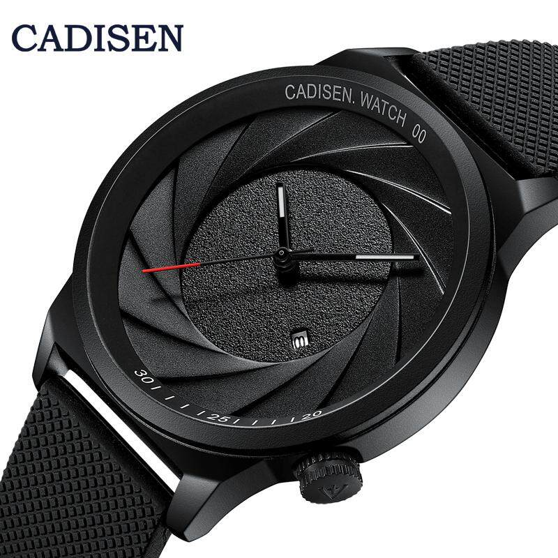 CADISEN Optical Phantom Wristwatch For Men Top Luxury Brand Calendar Casual Business Photographer Series Unique Camera Style Stainless Steel/Silicone Strap Trendy Break Style Quartz Mens Watch Malaysia
