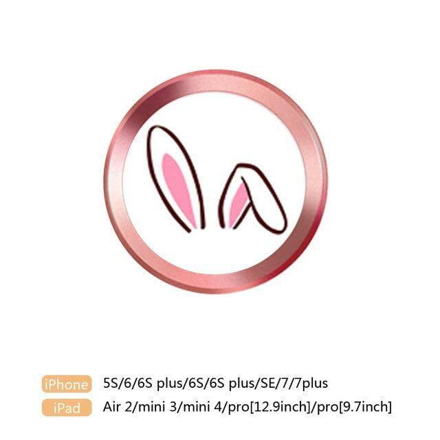 Lucu Kartun Touch ID Stiker Tombol Rumah untuk iPhone 5 5S 6 6S 6 Plus 7 7 Plus iPad Air 2 Identifikasi Sidik Jari Stiker