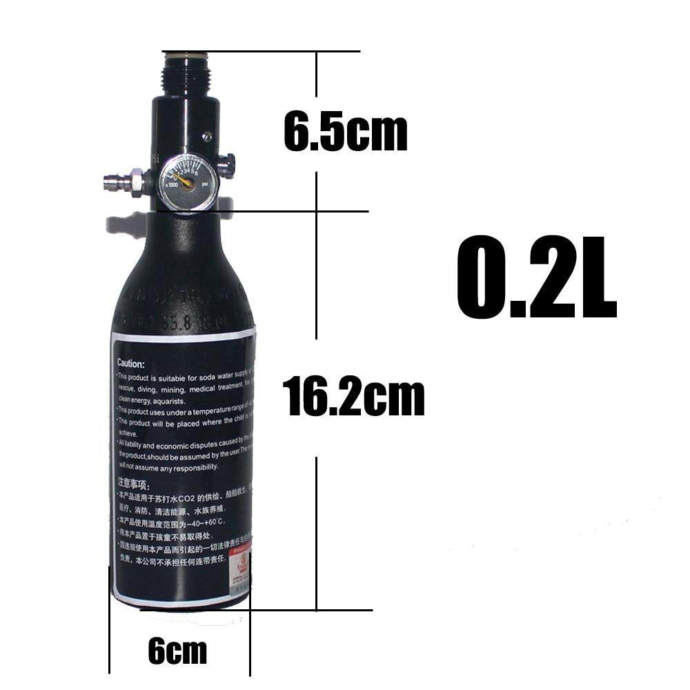 4500PSI HPA ถังวาล์วพีซีพีอากาศถังดำน้ำกระบอก 4500psi30MPA 0.22/0.3/0.35/0.45L HPA air ขวด M18 * 1.5