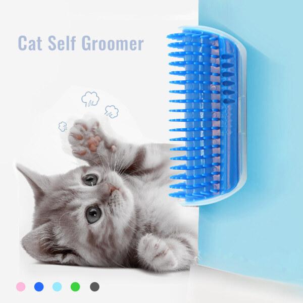 Vật Nuôi Đồ Chơi, Bàn Chải Tường Tự Chải Lông Cho Mèo Lược Tự Chải Chuốt Mát Xa Góc Cho Mèo Với Cây Tẩy Tế Bào Chết Mèo Catnip Với Một Chiếc Lược Tickling
