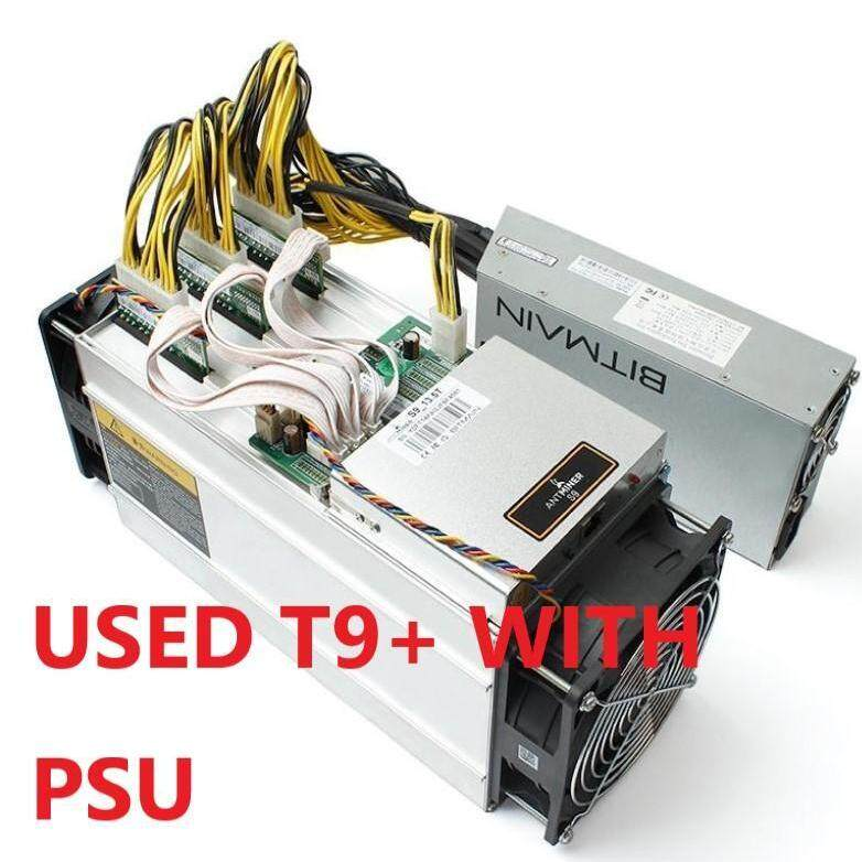 USED Asic Bitcoin Miner Antminer T9+ 10 5T with APW3 1600W PSU better than  WhatsMiner M3 Antminer S9 for BTC BCH