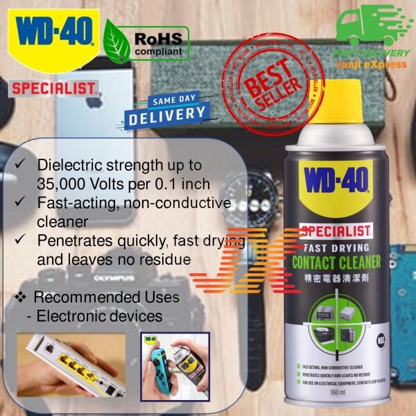 WD40 Specialist Fast Drying Contact Cleaner Spray 360ml WD-40 Joy Con Cleaner Motherboard Cleaner PS Console Cleaner