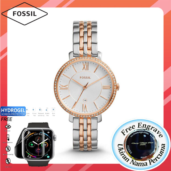[FREE ENGRAVE]Original Fossil Womens Jacqueline Date Watch 36mm ES3634 Malaysia