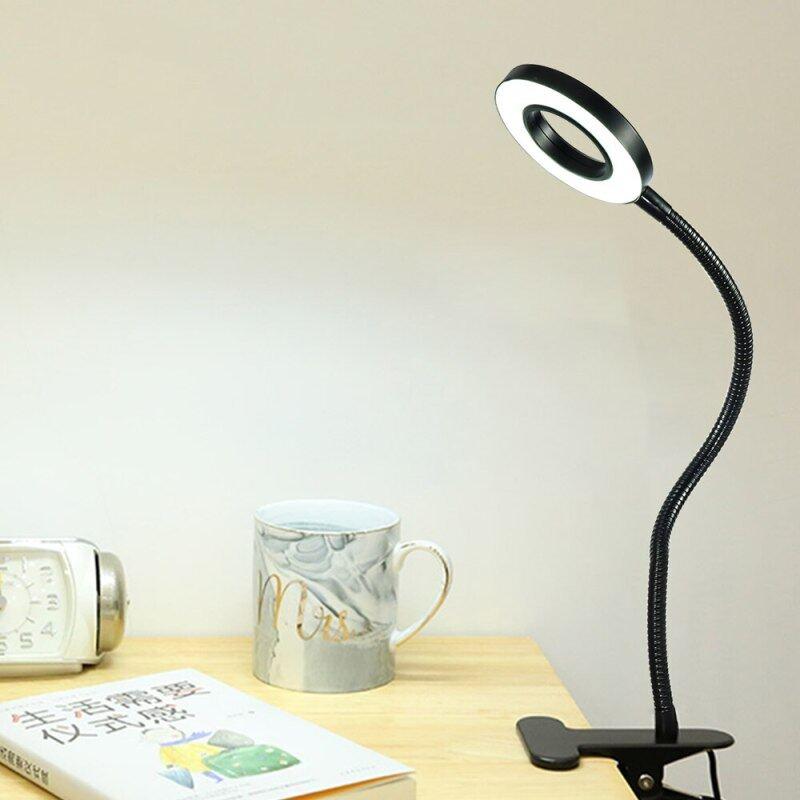 Bảng giá Kẹp Đèn LED Đèn Đọc USB Nguồn Đen Ống Mềm Bàn Bàn Đầu Giường Học Tập Kẹp Đèn LED Điều Chỉnh Độ Sáng Phong Vũ