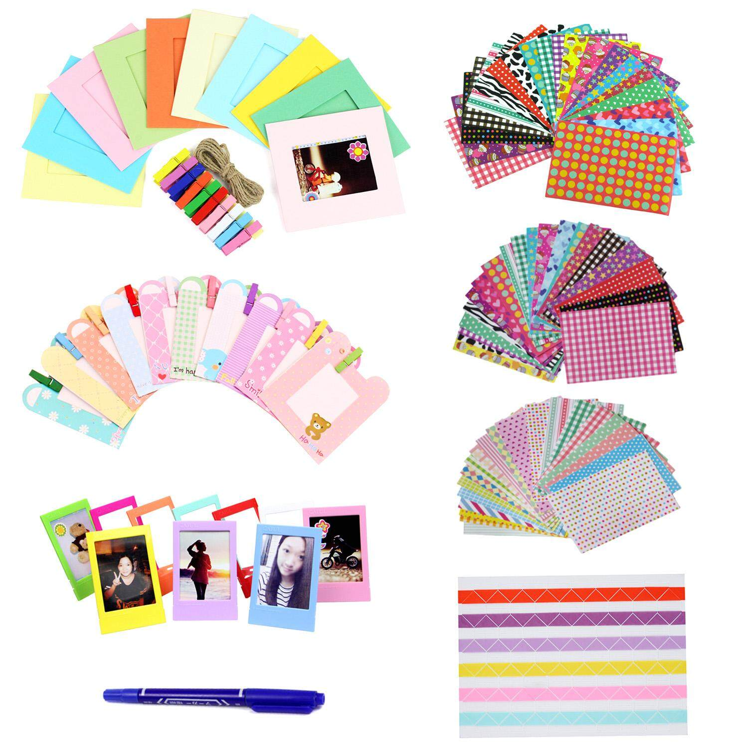 110pcs Diy Photo Pictures Frame Set Compatible With Fujifilm Instax Mini 8 7 S 9 25 50 70 90 Instant Camera Film By Stoneky.